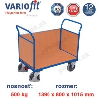 plosinovy vozik, 3 bocnice, variofit, three-sided trolley, mdf, doska sw-800.302